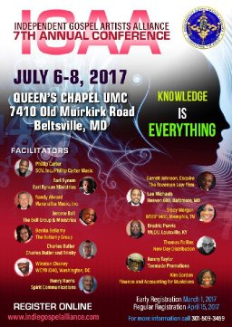 The Independent Gospel Artists Alliance, Inc. Presents the 7th Annual IGAA Conference from July 6th - 8th