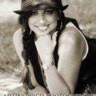 Nicole Michelle black and white close up pic